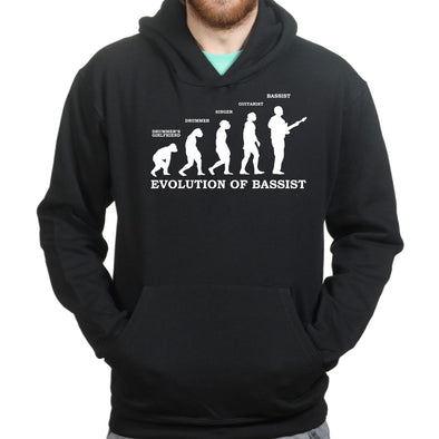 Evolution of Bassist Hoodie - Fretshirt.com