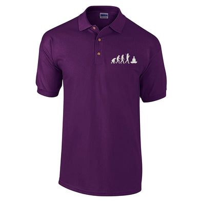 Evolution of Yoga Embroidered Polo Shirt