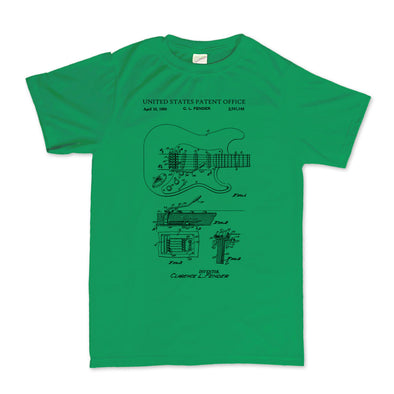 1956 Stratocaster American Standard Vintage Guitar Patent T-Shirt, [product_type) - Fretshirt.com