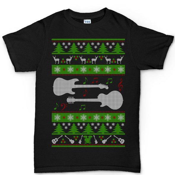 Guitars Christmas Ugly T-shirt