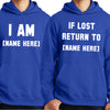 If Lost Return To Personalised Couple's Hoodies