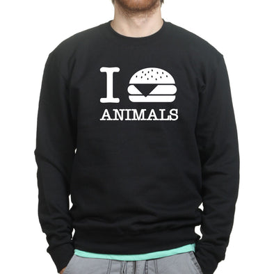 I Burger Love Animals Sweatshirt - Fretshirt.com
