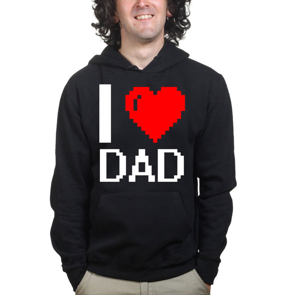 I Love Heart Dad Hoodie, [product_type) - Fretshirt.com