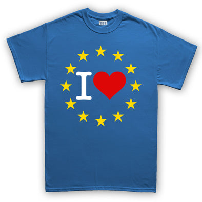 I Love You EU Brexit Mens T-Shirt