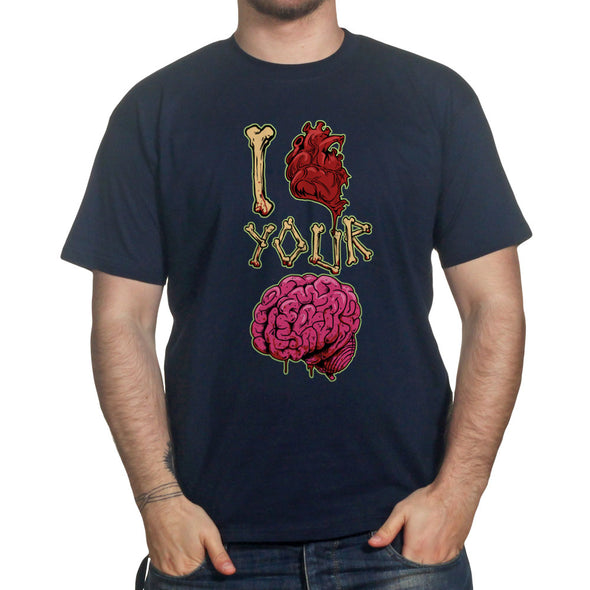 I Heart Love Your Brain Zombie  T-Shirt