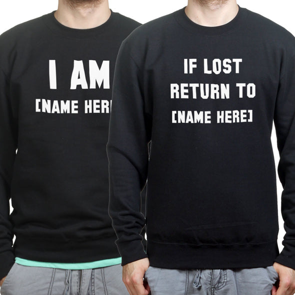If Lost Return To Personalised Couple's Sweatshirts