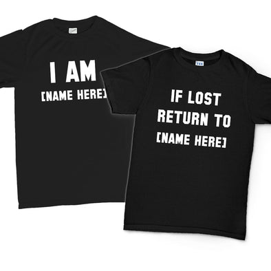 If Lost Return To Personalised Couple's T-Shirts