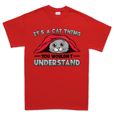 It's A Cat Thing - Hiding Under a Blanket Kid's T-Shirt