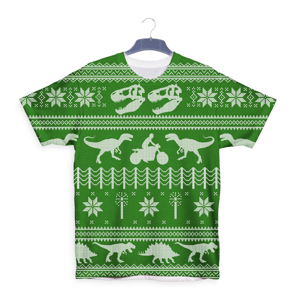 Jurassic Christmas Ugly Sweater T-Shirt