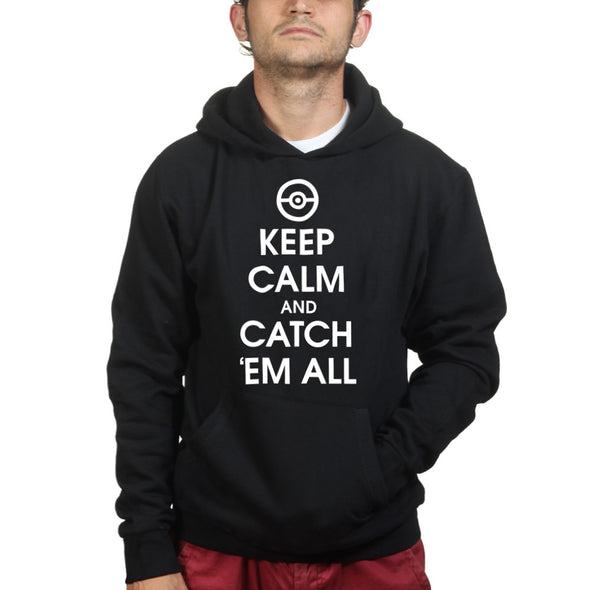 Keep Calm Catchem All Kid's Hoodie - Fretshirt.com