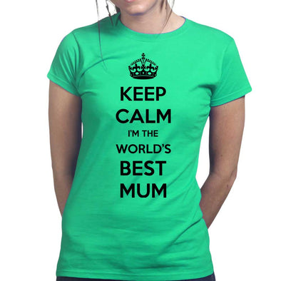 Keep Calm Worlds Best Mum Women's T-Shirt - Fretshirt.com