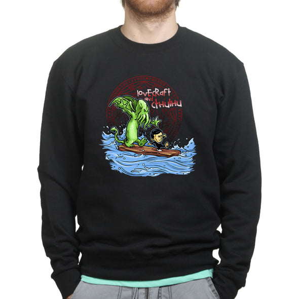 Lovecraft and Cthulhu Calvin Hobbes Sweatshirt - Fretshirt.com