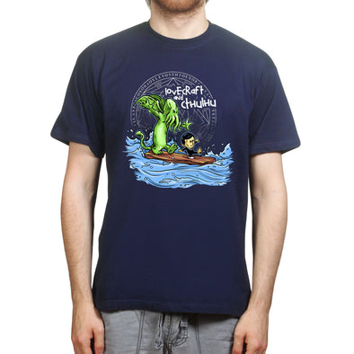 Lovecraft and Cthulhu Calvin Hobbes T-Shirt, [product_type) - Fretshirt.com