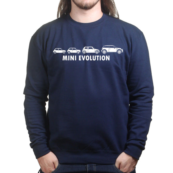 Evolution of Mini 1275 Classic Car Sweatshirt - Fretshirt.com