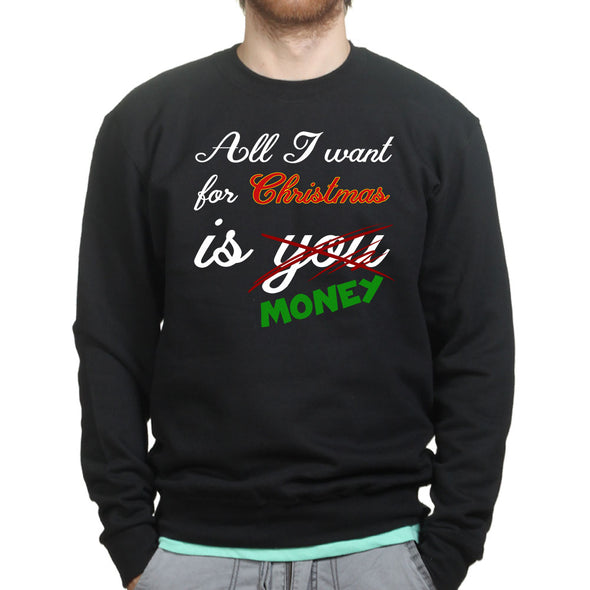 All I Want For Christmas Sweatshirt, [product_type) - Fretshirt.com