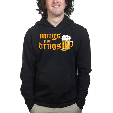 Beer Mugs Not Drugs Hoodie