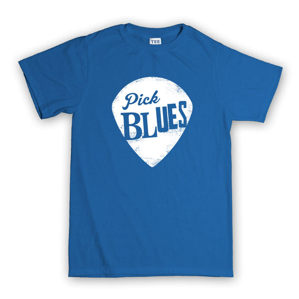 Pick Blues Guitar T-shirt, [product_type) - Fretshirt.com