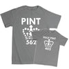 Pint / Half Pint - Father & Son T-Shirts, [product_type) - Fretshirt.com