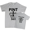 Pint / Half Pint - Father & Son T-Shirts - Fretshirt.com