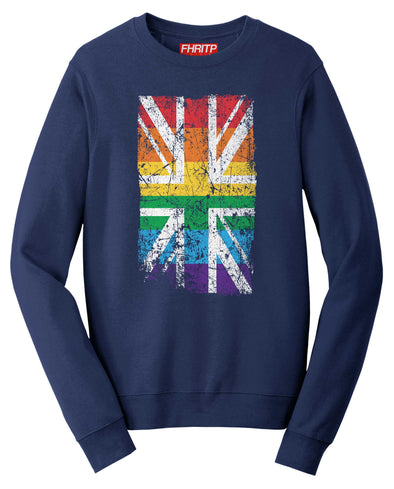 Great Britain UK Union Jack Pride Rainbow Flag Sweatshirt