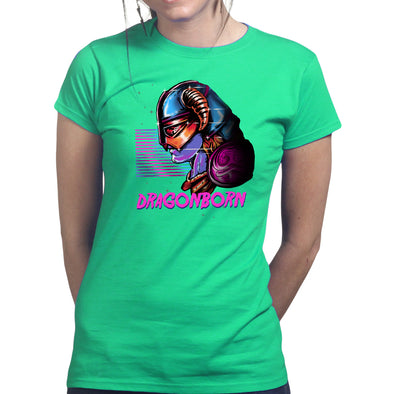 Retro Dragonborn Skyrim Women's T-Shirt