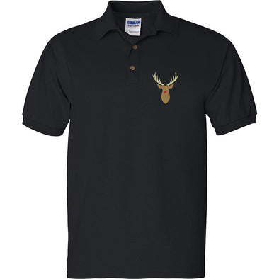 Rudolph Red Nose Embroidered Polo Shirt