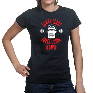 Santa Going Down Women's T-Shirt