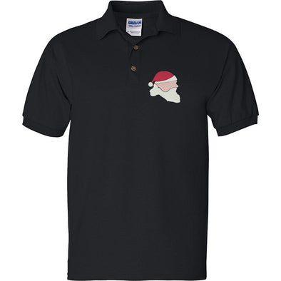 Santa Side Face Embroidered Polo Shirt