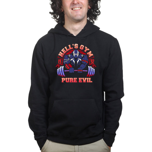 Hell's Gym Super Hero Villain Hoodie
