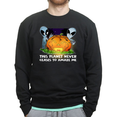 Aliens on Halloween Sweatshirt