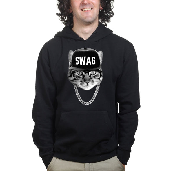 Swag Hipster Cat Hoodie