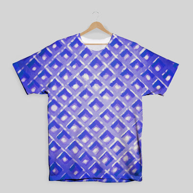 The Waffleverse - Blue Waffle All Over Print T-Shirt