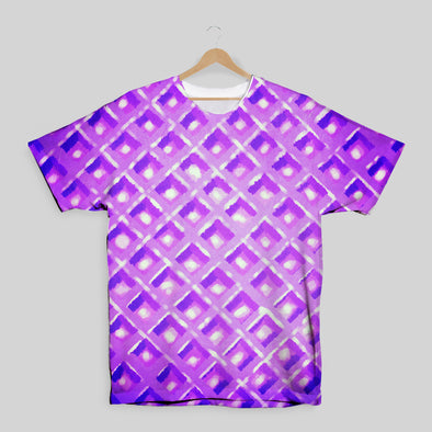 The Waffleverse - Purple Waffle All Over Print T-Shirt