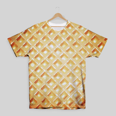 The Waffleverse - Waffle All Over Print T-Shirt