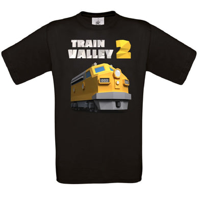 Train Valley 2 - Train Logo with Optional Sleeve Prints T-Shirt - Fretshirt.com
