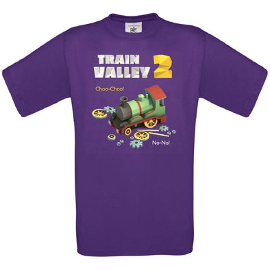 Train Valley 2 - Choo-Choo! No-No! with Optional Sleeve Prints T-Shirt, [product_type) - Fretshirt.com