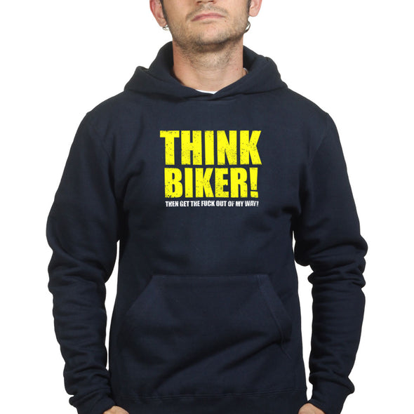 Think Bike Biker Then Get Out Of the Way Hoodie, [product_type) - Fretshirt.com