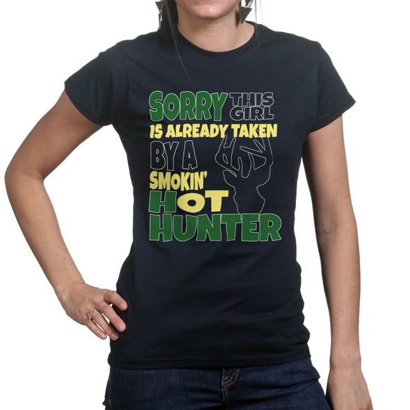 This Girl Is Taken By A Hunter Women's T-Shirt, [product_type) - Fretshirt.com