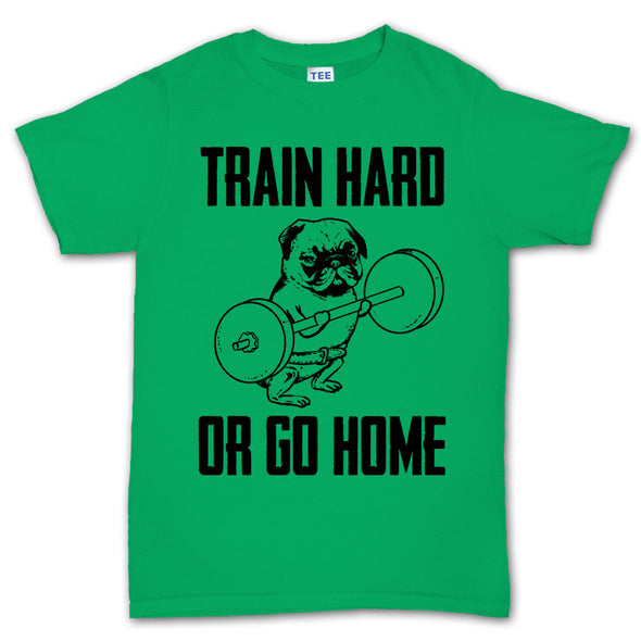 Train Hard Pug Fitness T-Shirt, [product_type) - Fretshirt.com