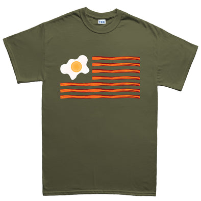 American Bacon Flag Kid's T-Shirt