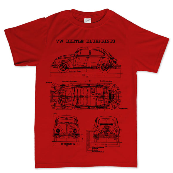 Beetle Bug Blueprint Kid's T-Shirt