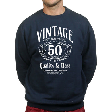 Vintage Aged 50th Birthday Sweatshirt - Fretshirt.com