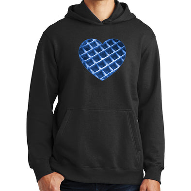 The Waffleverse - Blue Heart Hoodie