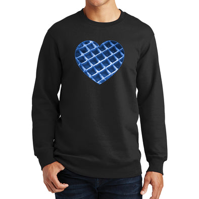 The Waffleverse - Blue Heart Sweatshirt