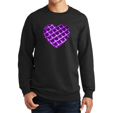 The Waffleverse - Purple Heart Sweatshirt