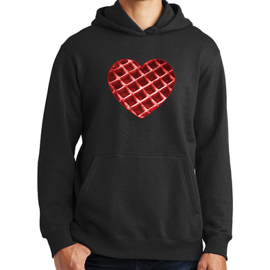 The Waffleverse - Red Heart Hoodie