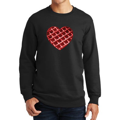 The Waffleverse - Red Heart Sweatshirt