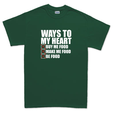 Ways To My Heart Food T-Shirt