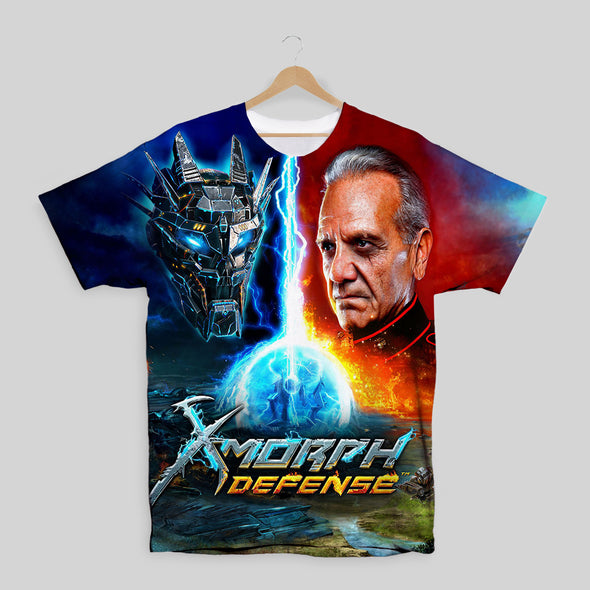 X-Morph Defense Alien General Face Off  All Over Print T-shirt