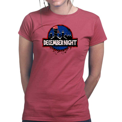 Xmas Night Jurassic Womans T-shirt